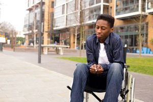 Sad Youth in a Wheelchair | Personal Injury and Depression Often Go Hand-in-Hand