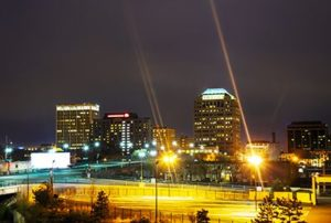Night view of Colorado Springs downtown | How Safe Are Drivers in Colorado Springs
