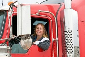 Woman Driving An Eighteen  | Sharing The Road With Big Rigs