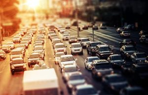 Highway Traffic at Sunset. Tilt Shift Concept Photo | NHTSA Reports 17,775 Traffic Fatalities for the First Half of 2016