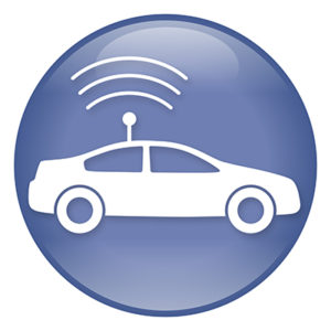 autonomous vehicle icon | sharing the road with self-driving cars